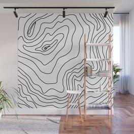 Minimal Black & White line art Modern Design Wall Mural