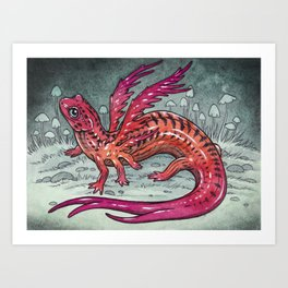 Salamander Dragon  Art Print