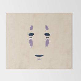 Spirited Away - No Face Minimalist, Miyazaki, Studio Ghibli Throw Blanket