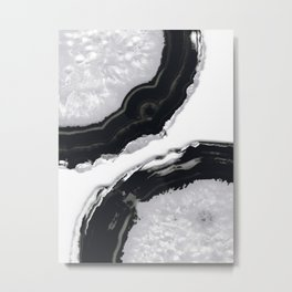 Gray Black Agate #2 #gem #decor #art #society6 Metal Print
