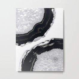 Gray Black Agate #2 #gem #decor #art #society6 Metal Print