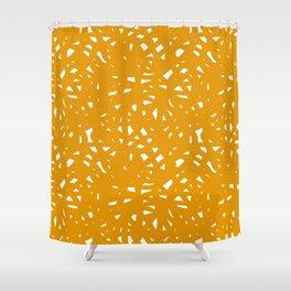 Yellow Freeform Shower Curtain