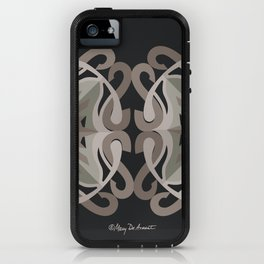 Safe Mandala x2 - Black Brown iPhone Case
