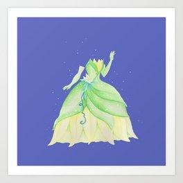 Tiana Dress Art Print