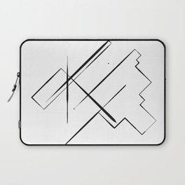 Black Lines Laptop Sleeve