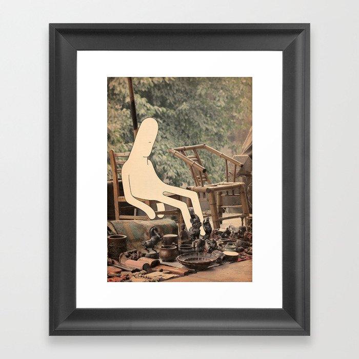p i s o l o Framed Art Print