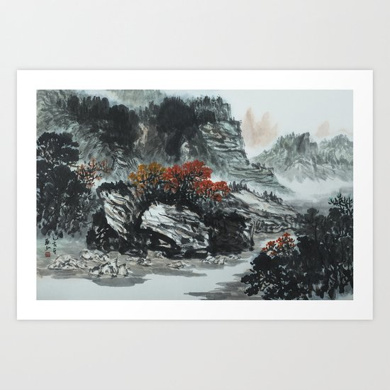 The spring of Absolute Valley Art Print