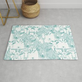 just goats teal Rug