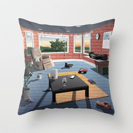"Hippo Campus - ""Landmark"" Lyrics Throw Pillow"