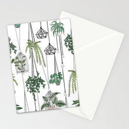 hanging pots pattern Stationery Cards