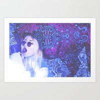 3D Hippy  Art Print