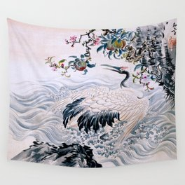 Flowers and Bird Wall Tapestry