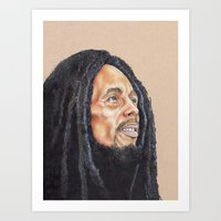 marley Art Prints featuring Marley by E. L. Briscoe Art