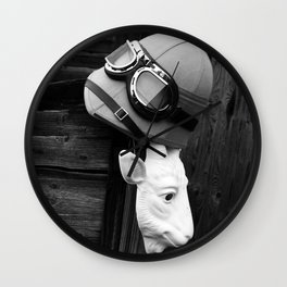 Helmet and Mask Wall Clock