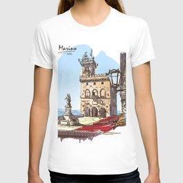 Sketches from Italy - San Marino T-shirt