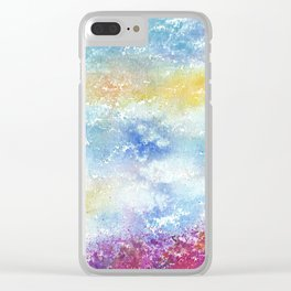 Sky Watercolor Art Illustration Clear iPhone Case
