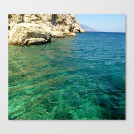 Clearest water Canvas Print