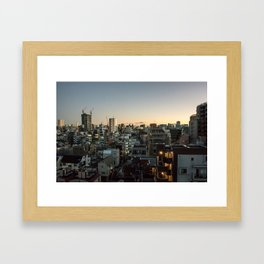 Tokyo Skyline at Dusk Framed Art Print