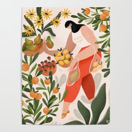 At the fruit market Poster