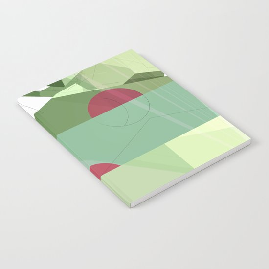 Geometric abstract green No. 1 Notebook