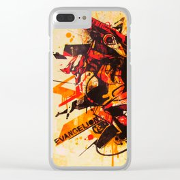 Evangelion Eva-02 Clear iPhone Case