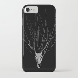 Deer Skull with a crown of branches iPhone Case