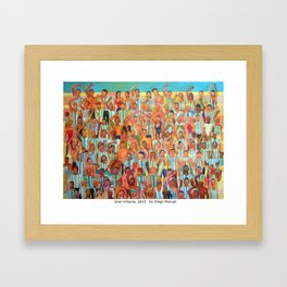 Gran tribuna by Diego Manuel Framed Art Print
