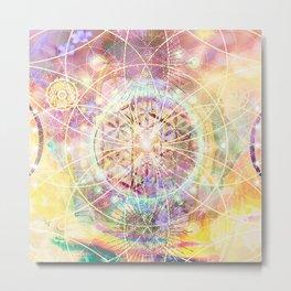 Abstract Spiritual Sacred Geometry II Metal Print