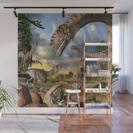 Jurassic dinosaurs being born Wall Mural