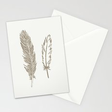 Luxe Feathers Stationery Cards