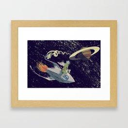 Space Chase Framed Art Print