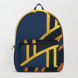 Art Deco Morning Sun In Navy Blue Backpack