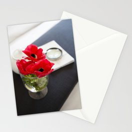 Flowers in Bed Stationery Cards