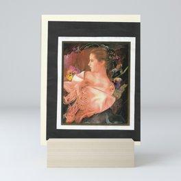 Lady with Her shawl Mini Art Print