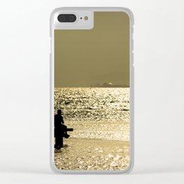 Sitting in the dock of a bay Clear iPhone Case