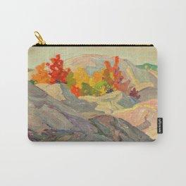 Canadian Landscape Oil Painting Franklin Carmichael Art Nouveau Post- Foliage against Grey Rock 1920 Carry-All Pouch