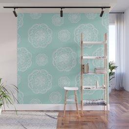 Mint Romantic Flower Mandala Pattern #2 #decor #art #society6 Wall Mural