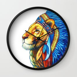 The Lion Chief Wall Clock