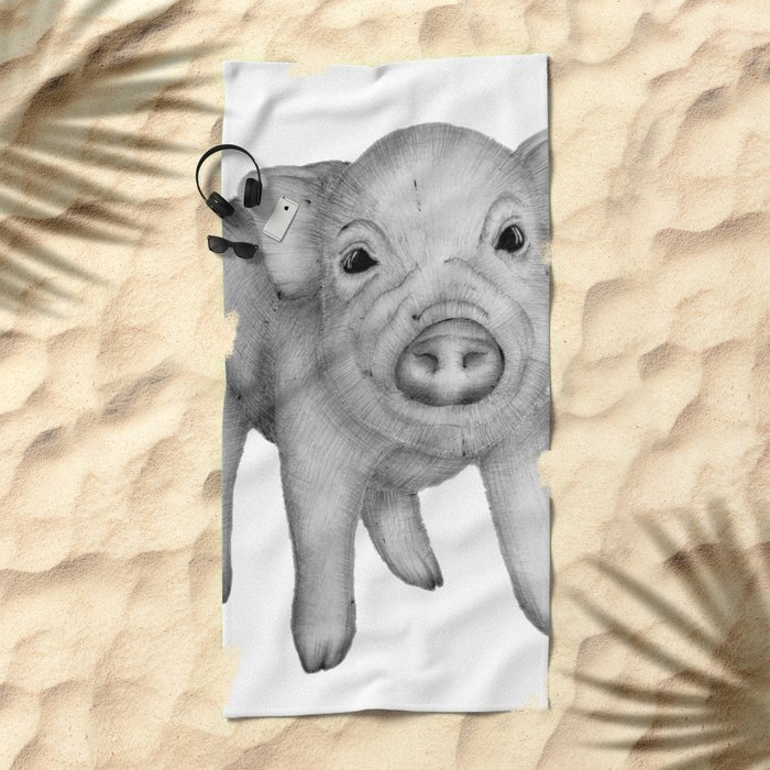 This Little Piggy Beach Towel