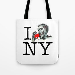 I Zombie Apocalypse New York Tote Bag