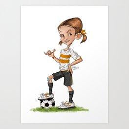 Soccer Girl Art Print