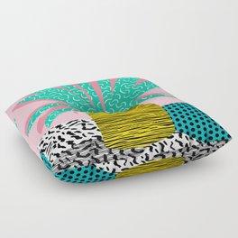 In the Mix - 80's neon house plant tropical garden container garden art print botanical natural  Floor Pillow