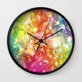 Rainbow of Lights Wall Clock