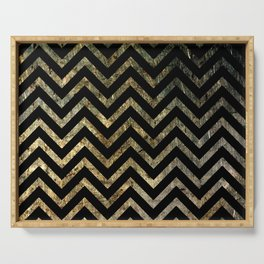 Brass Chevrons Serving Tray