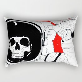 Skull Astronaut Rectangular Pillow