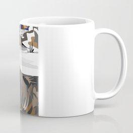 """Lone Wolf"" Paulette Lust's Original, Contemporary, Whimsical, Colorful Art  Coffee Mug"