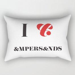 I heart Ampersands Rectangular Pillow