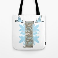 fairy tale Tote Bags featuring Fairy Tale by VirgoSpice