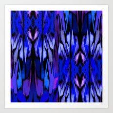 Indigo Fever Art Print