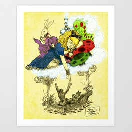 'Dreaming Alice' by Kevin C. Steele Art Print